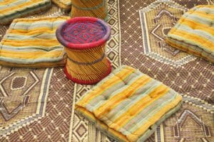Rugs and Floor Cushions