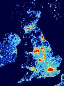 Dark Sky Map of UK