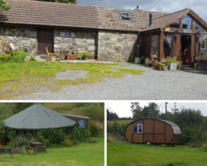 ranch house, roundhouse and caravan, other accomodation to rent
