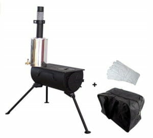 portable wood burning stove and water heater