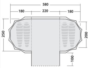 Robens trapper twin tent layout