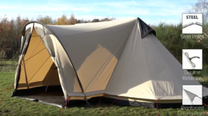 Robens Trapper Twin tent pitched outside