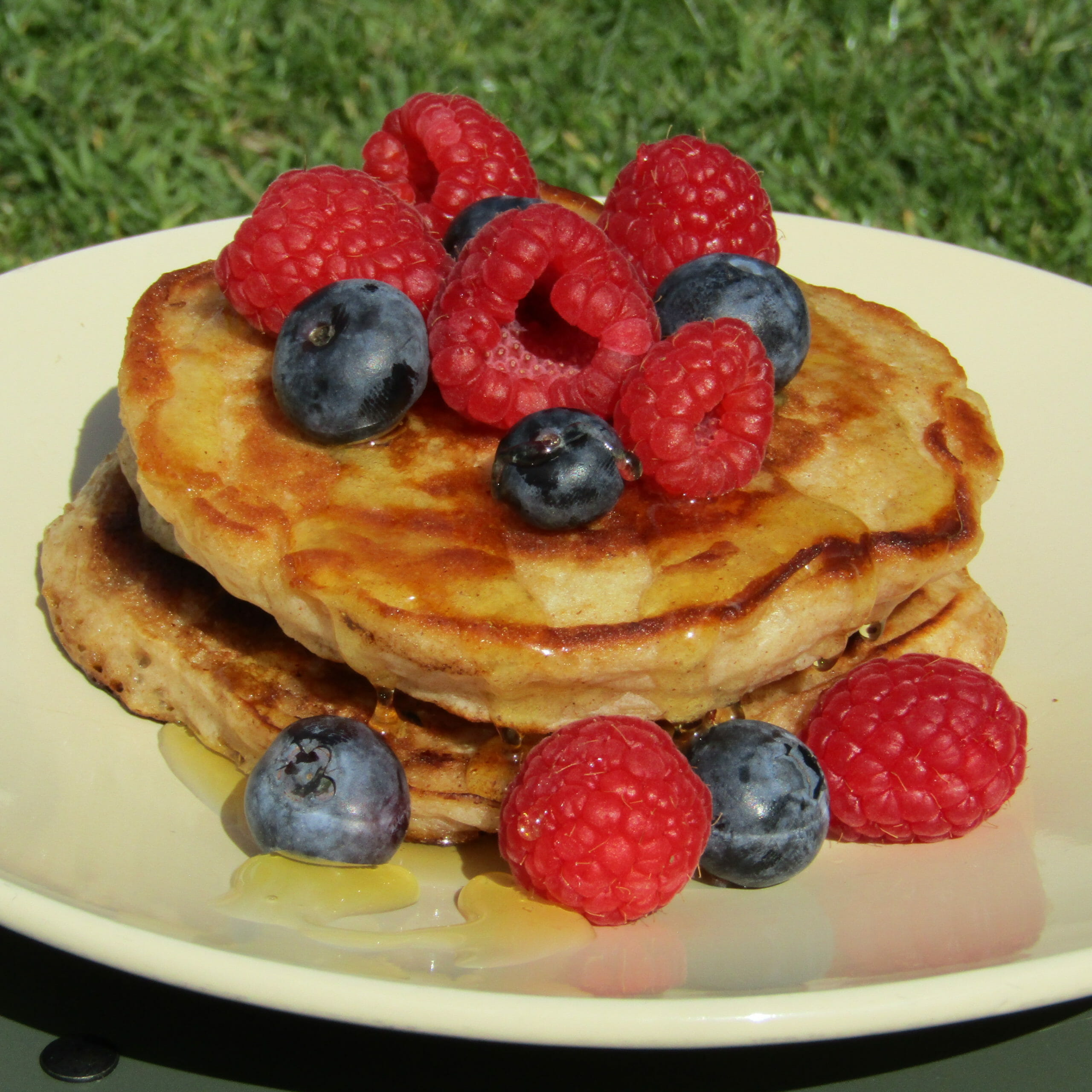 Banana Pancakes and fruit