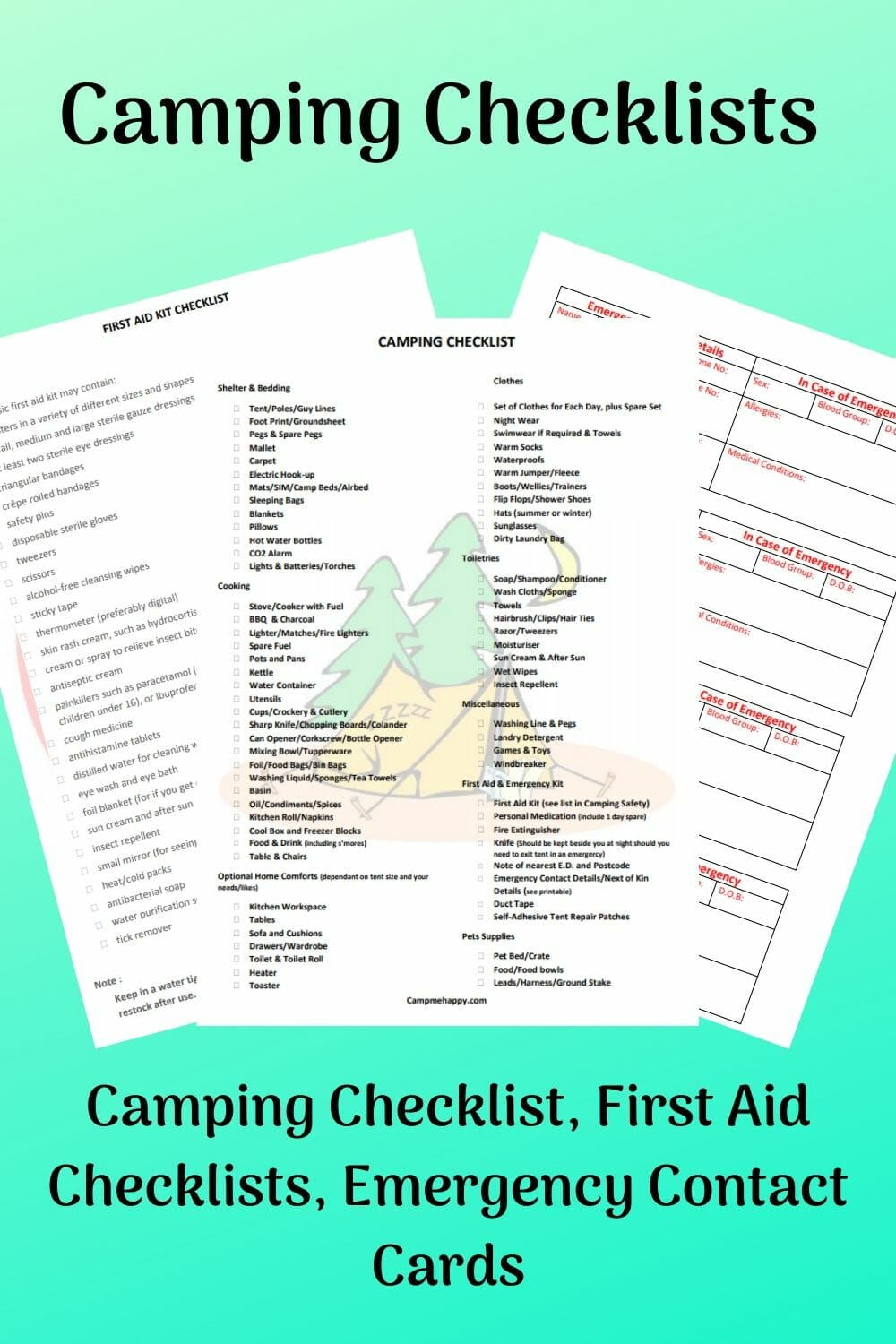 Camping Checklists