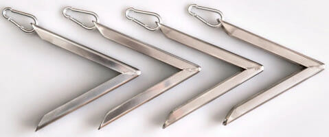 Stainless steel delta ground anchors