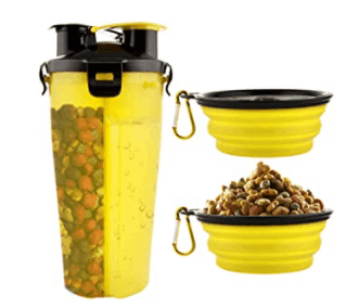 dog bowls with food and water storage cup