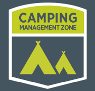 camping management zone sign